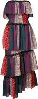 Sonia Rykiel strapless multi-print dress