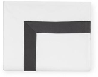 Sferra Orlo Flat Sheet - Charcoal Full/queen