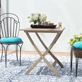 Lleyton Outdoor Folding Bistro Table Winston Porter Color: Gray