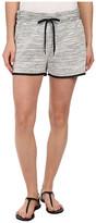 DKNY Textured Terry Mesh Trim Shorts in Polar Cream