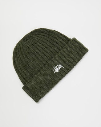Stussy Green Beanies - Graffiti Rib Knit Beanie - Size One Size at The Iconic