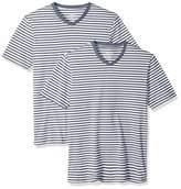 Amazon Essentials Men's Slim-Fit Short-Sleeve Stripe V-Neck T-Shirts