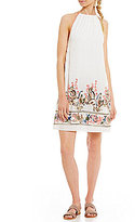 Chelsea & Violet Embroidered Halter Dress