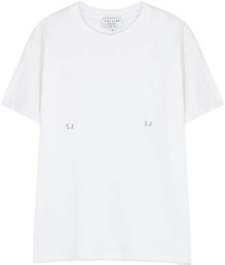 Collina Strada White Pierced Cotton T-shirt