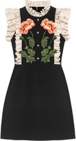 Gucci Floral embroidered wool silk dress