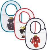 Dolce & Gabbana Dog Print Bibs (Pack of 3), White, M