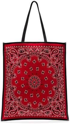 Saint Laurent Red Bandana rectangular tote bag
