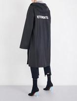 Vetements Logo-print oversized PVC raincoat