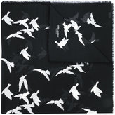 Saint Laurent bird print scarf - women - Wool - One Size