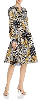 Nanette Lepore nanette Long-Sleeve Pintucked Shirt Dress