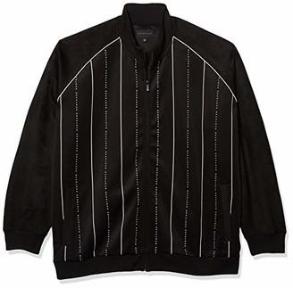 Sean John Men's Size Long Sleeve Zip Up Linear SJ Track Jacket