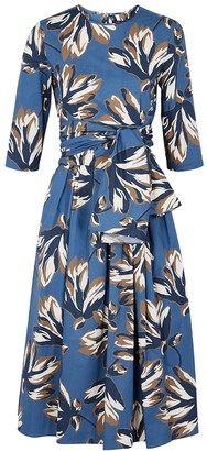 Max Mara 'S Petalo Floral-print Cotton Midi Dress
