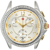 Michele Women's Belmore Chronograph 18mm Two-Tone Diamond Watch Gold/