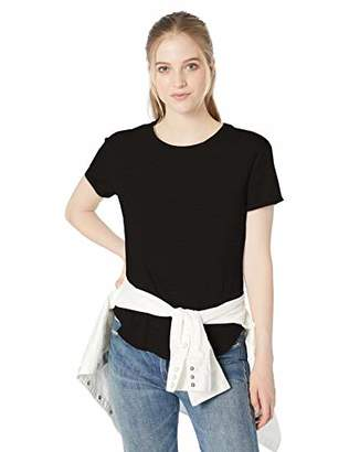 Daily Ritual Lightweight Lived-in Cotton Roll-sleeve Crewneck T-shirtUS (EU XS-S)