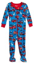 Hatley Infant Boy's Firetruck Organic Cotton Fitted One-Piece Footie Pajamas