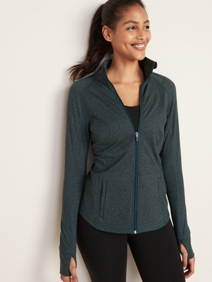 Old Navy Fitted Soft-Brushed Performance Zip Jacket for Women
