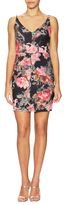 Black Halo Judy Floral Print Mini Dress