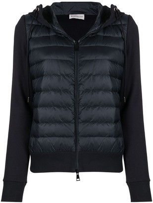Moncler Padded Front Logo Plaque Hoodie