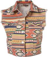 Aztec Print Sleevless Gilet