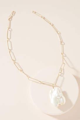 Anthropologie Demetria Pearl Pendant Necklace