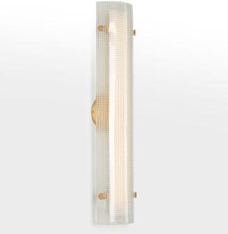 "Rejuvenation Willamette 28"" LED Clear Diamond Glass Wall Sconce"