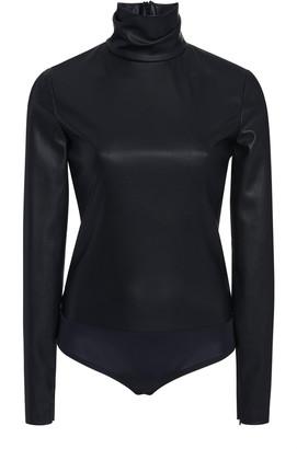 Alexander Wang Faux Leather Turtleneck Bodysuit