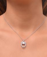 Swarovski Golden Moon Women's Necklaces Silver - Silvertone Owl Pendant Necklace With Crystals