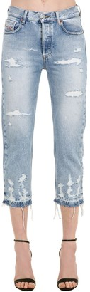 Diesel Aryel Distressed Cotton Denim Jeans