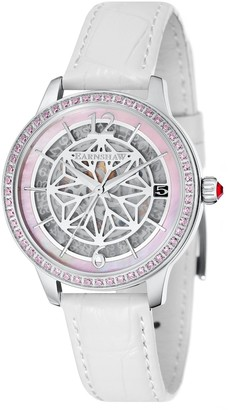 Thomas Laboratories Earnshaw Women's Lady KEW Stainless Steel Automatic-self-Wind Watch with Leather Strap