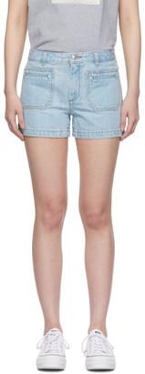 A.P.C. Blue Roma Shorts