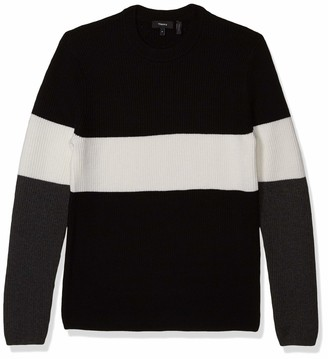 Theory Men's Zoren Color Blocked Cashwool Sweater