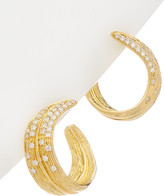 Michael Aram Palm 18K Diamond Earrings