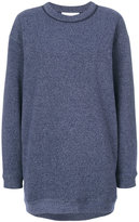 See by Chloe Oversized marl sweatshirt - women - Cotton/Polyester - XS