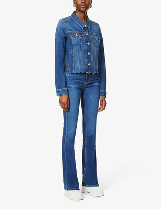 Paige Vivienne relaxed-fit cropped denim jacket