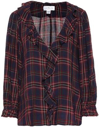 Velvet Addison checked blouse