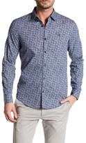 Original Penguin Long Sleeve Floral Print Slim Fit Shirt