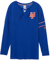 PINK New York Mets Bling Lace-up Varsity Crew