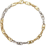 Lord & Taylor 14k Yellow and White Gold Mens Bracelet
