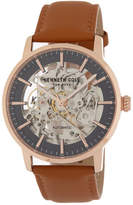 Kenneth Cole New York Men's Skeleton Dial Leather Strap Watch, 42mm