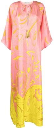Emilio Pucci Dinamica print silk kaftan-style dress