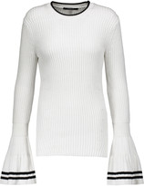 Derek Lam Ribbed cotton and silk-blend sweater
