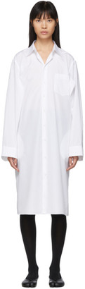 Maison Margiela White Double Arm Dress