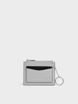 Charles & Keith Two-Tone Zip Pocket Card Holder