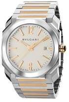 Bvlgari Octo 18K Pink Gold & Stainless Steel Bracelet Watch