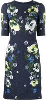 Erdem floral print midi dress with cropped sleeves