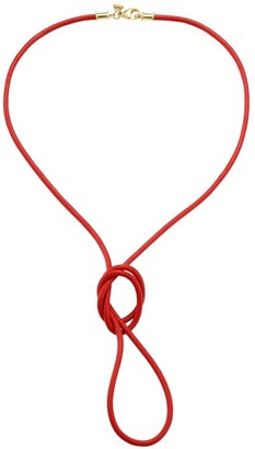 Temple St. Clair Red Leather Cord Necklace