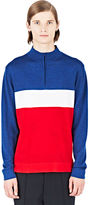 Emiliano Rinaldi Men's France Riding Polo Shirt In White, Red And Blue