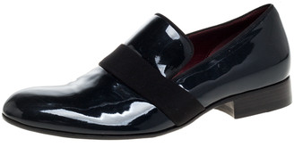 Celine Dark Green Patent Leather Slip On Loafers Size 38.5
