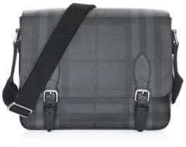 Burberry Medium Hendley Tartan Messenger Bag