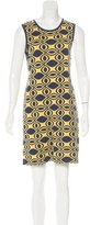 Alice + Olivia Merino Wool Geometric Patterned Dress